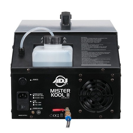 ADJ Mister Kool II Fog Machine Back Side