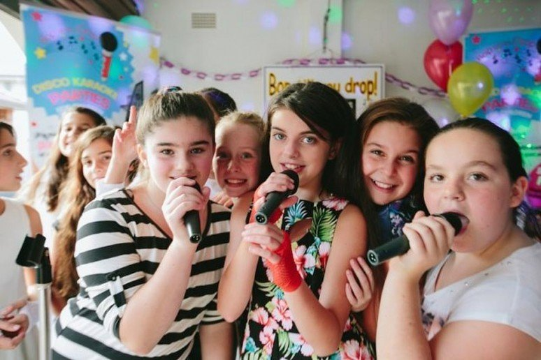 Girls Singing Karaoke