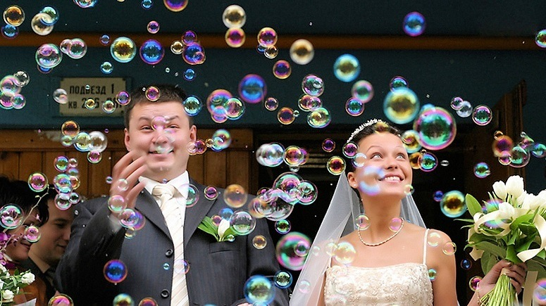 Bubbles At Wedding