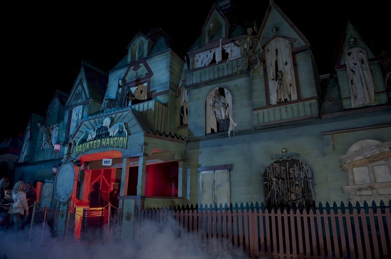 Fog In Front Of Haunted House